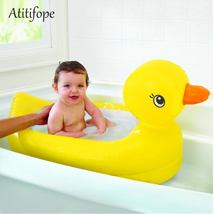 Inflatable Duck Float Lounge Pool Yellow Duck Tub Ducky Duckie Baby Kids Toddler Inflatable Pool Floats Raft Boat Perfect Toys