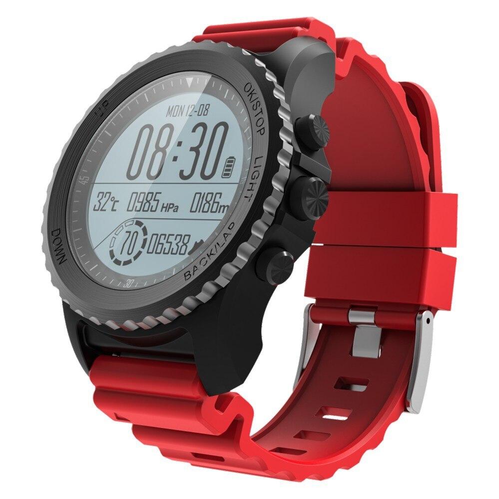 Профессиональные спортивные часы GPS позиционирования сердечный ритм над уровнем моря Температура Multi mode IP68 водонепроницаемый смарт цвет бр