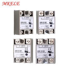 Hot Sale MK-SSR-40DA/10DA/25DA/25DD Series 24v~480VAC Solid State Relay Module 3-32VDC Input High Quality Free Shipping