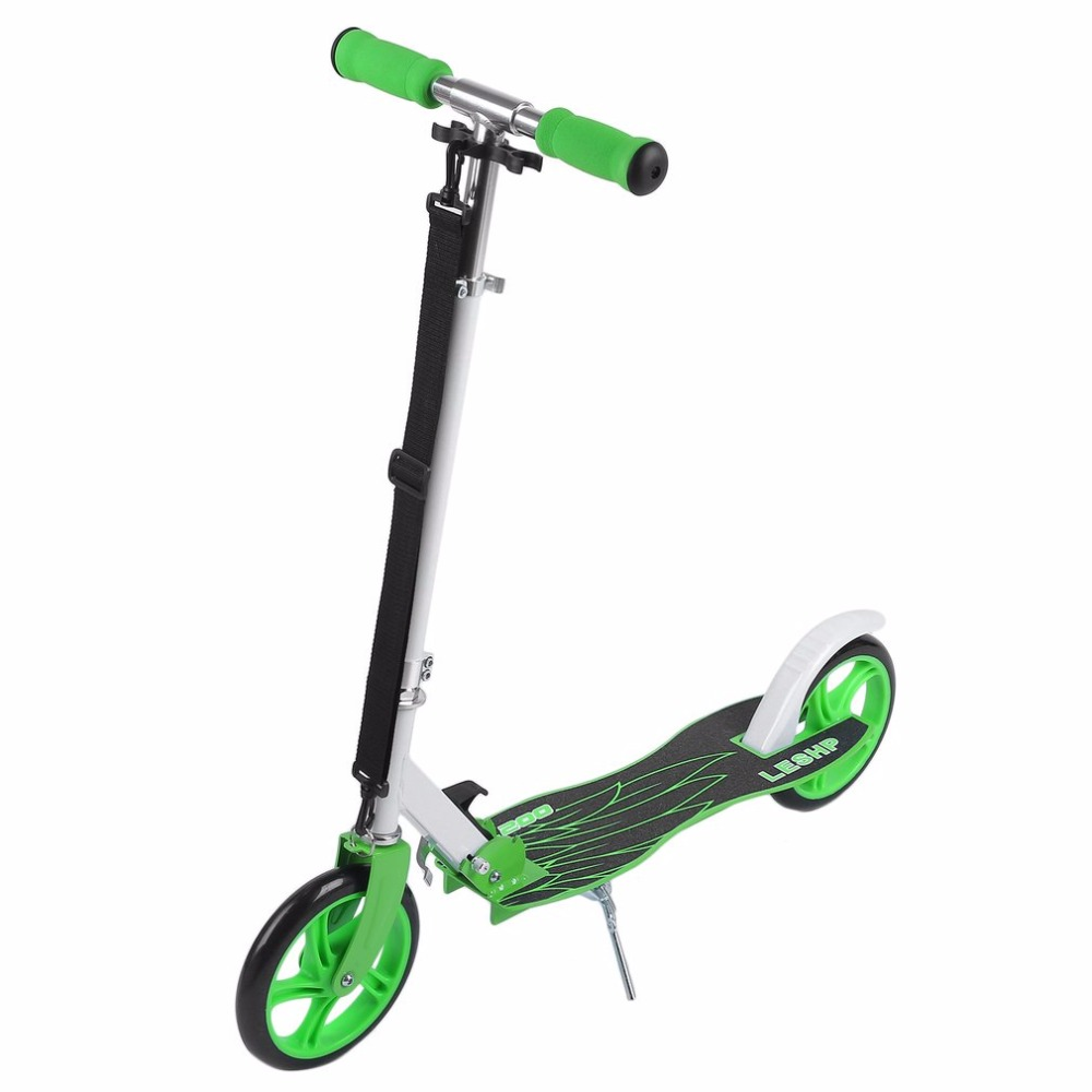 200MM Folding Height Adjustable Foot Scooter Two Rounds Wheels Outdoor Double Damping Push Adult Kick Scooter free shipping