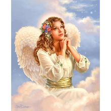 Megayouput 5D diy diamond painting Cross Stitch Diamond Embroidery rhinestones mosaic pattern Angel prayer picture home decor