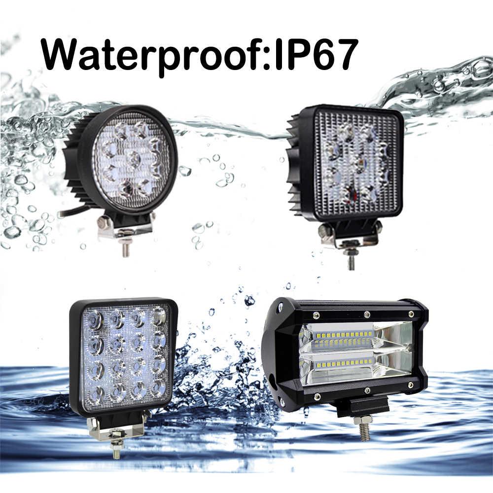 Обновление 10/13 см 27 W 48 W 72 WOffroad автомобиля 4WD тягач лодка трейлер 4x4 внедорожник ATV 12 V 24 V пятна подводный светодиод бар светодиодный свет работы