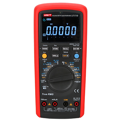 UNI-T UT171B True RMS Auto/Manual Range Digital Multimeter Eletronic AC DC With LCD Backlight uni t ut890c digital lcd multimeter true rms ac dc frequency palm size lcd backlight automotive temperature probe