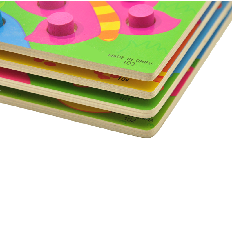 Träleksaker Tangram / Jigsaw Board Cartoon Puzzle Jigsaw Kids Early - Spel och pussel - Foto 3