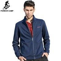Pioneer Camp Brand Clothing Fleece Jacket Men Spring Winter Fleece Dark Blue Coat Men Top Quality
