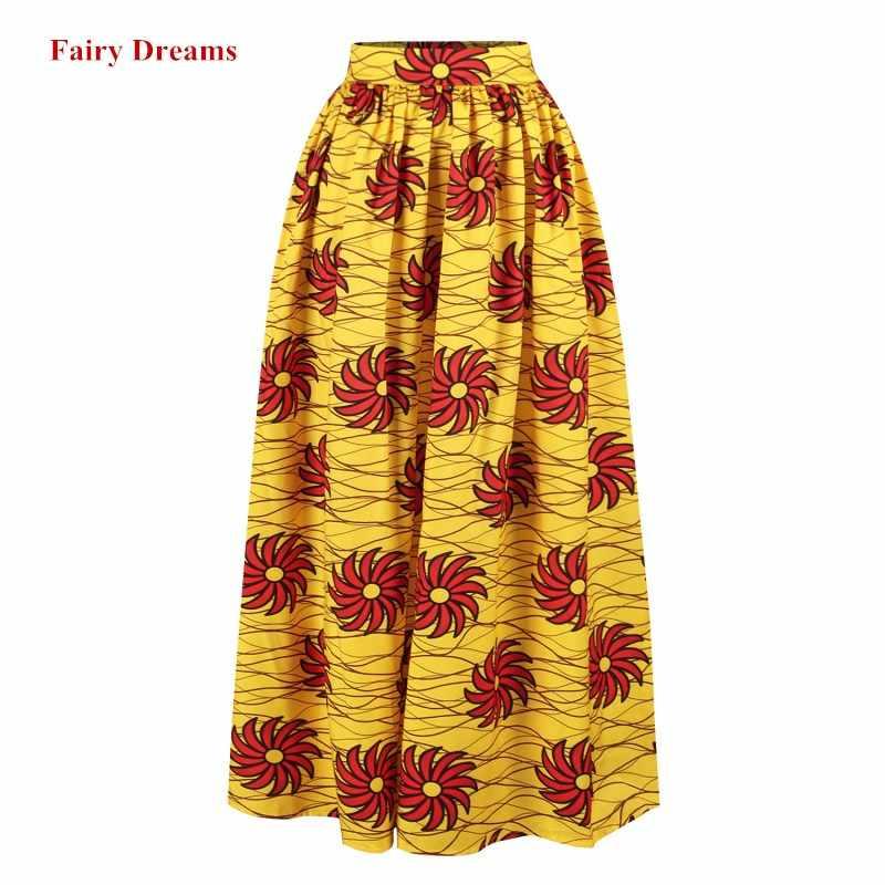 Kadınlar Maxi afrika etekler Ankara hint baskı afrika giysi ilkbahar yaz sonbahar moda giyim uzun etek 2019 yeni stil