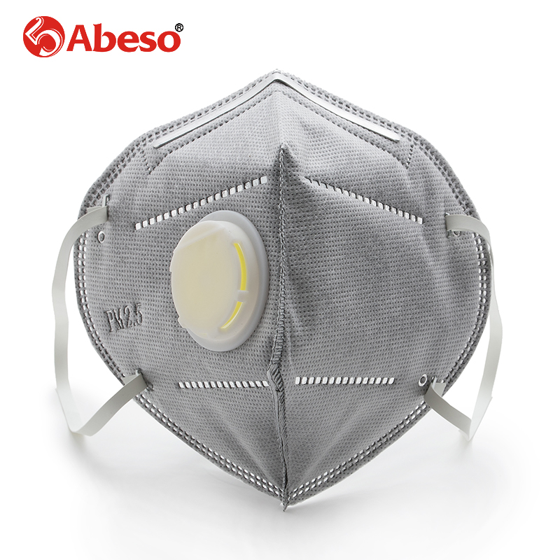 ABESO PM2.5 carbon activated disposable mask dust Anti influenza Breathing valve AN9502 influenza