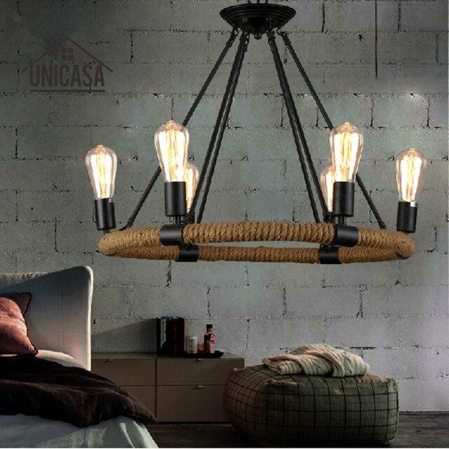 Luces pendientes de la vendimia de hierro forjado de iluminación ...