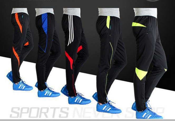 Jogger Pants Football Training 2016 Soccer Active Jogging Trousers Sport Running Track GYM clothing Men's Sweatpant S-4XL