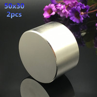 Free Shipping 2pc Dia 50x30 Mm Hot Round Magnet Strong Rare Earth Neodymium Magnetic 1 968
