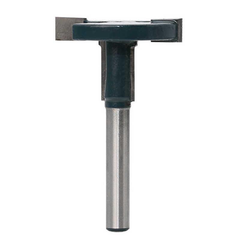 T-Ranura de fresado con ranura máquina de grabado de madera recto brida en forma de T de 1/4 ''mango enrutador Blade poco