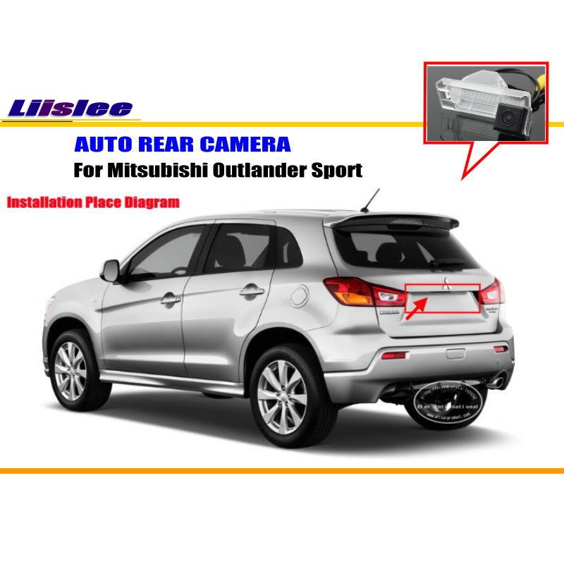 Liislee Car Rear Camera For Mitsubishi Outlander Sport / Back Parking Camera / HD CCD RCA NTST PAL / License Plate Light Camera