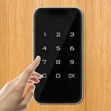 Безопасность электронный дверной замок Домашний цифровой дверной замок умный надежный пароль без ключа сенсорный экран код клавиатуры шкафчик