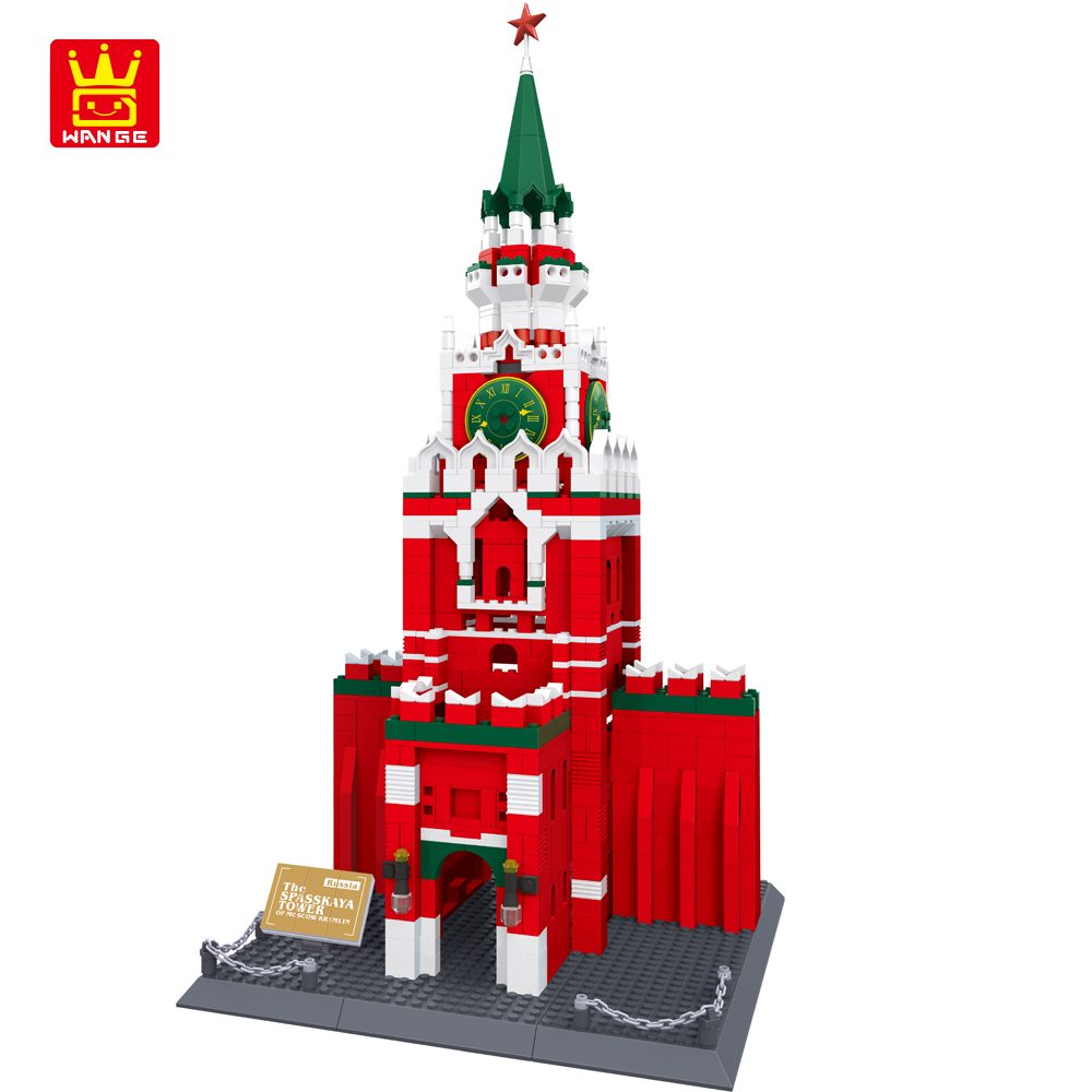 WANGE Blocks Famous Russia Kremlin Building Blocks 1044pcs Bricks DIY Assemble Construction Toys for Children Birthday