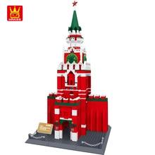 WANGE Blocks Famous Russia Kremlin Building Blocks 1044pcs Bricks DIY Assemble Construction Toys for Children Birthday Gifts
