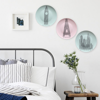 The living room dining room wall decoration decorative hanging plate ceramic disc hanging wall decoration wall decoration ideas