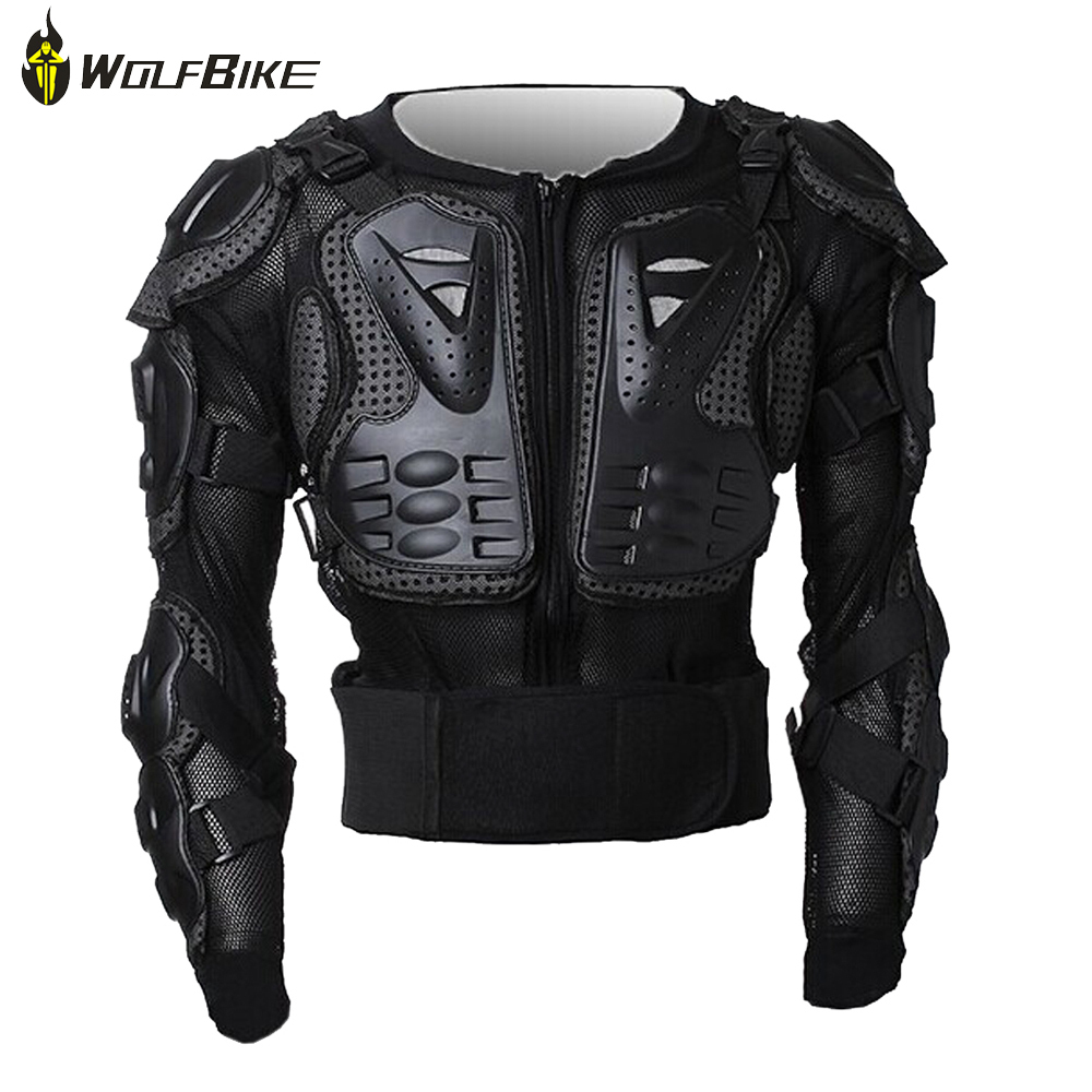 WolfBike Professional Motorcycle Jacket Mesh Breathable Bike Riding Armor Clothes Body Chest Protective Guard Jacket XXXL scoyco motorcycle riding knee protector extreme sports knee pads bycle cycling bike racing tactal skate protective ear