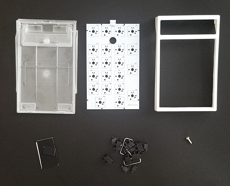 Satan pad numpad kit pavé numérique clavier mécanique clavier Kit de bricolage 21 kit clé cherry mx marron argent clair