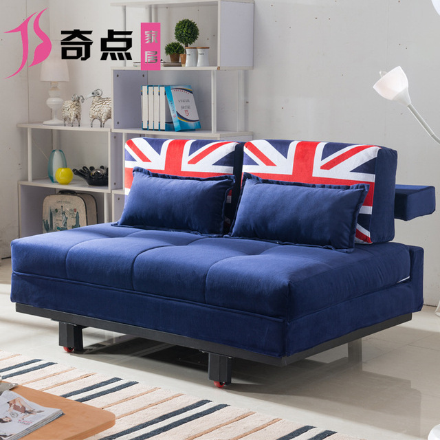 Multifunctional Sofa Bed 1.5 M 1.2 M Double Fold Out Sofa Bed Small  Apartment Seat