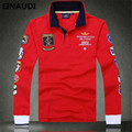 EINAUDI High quality brand fashion air force one polo shirt aeronautica men's long sleeve polo shirt   men's cotton clothing