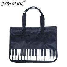 2018 New Piano Keyboard Printing Linen Shopping Bag Casual Summer Beach Oxford cloth Cloth Pouch Bolsos de Mujer travel Handbag