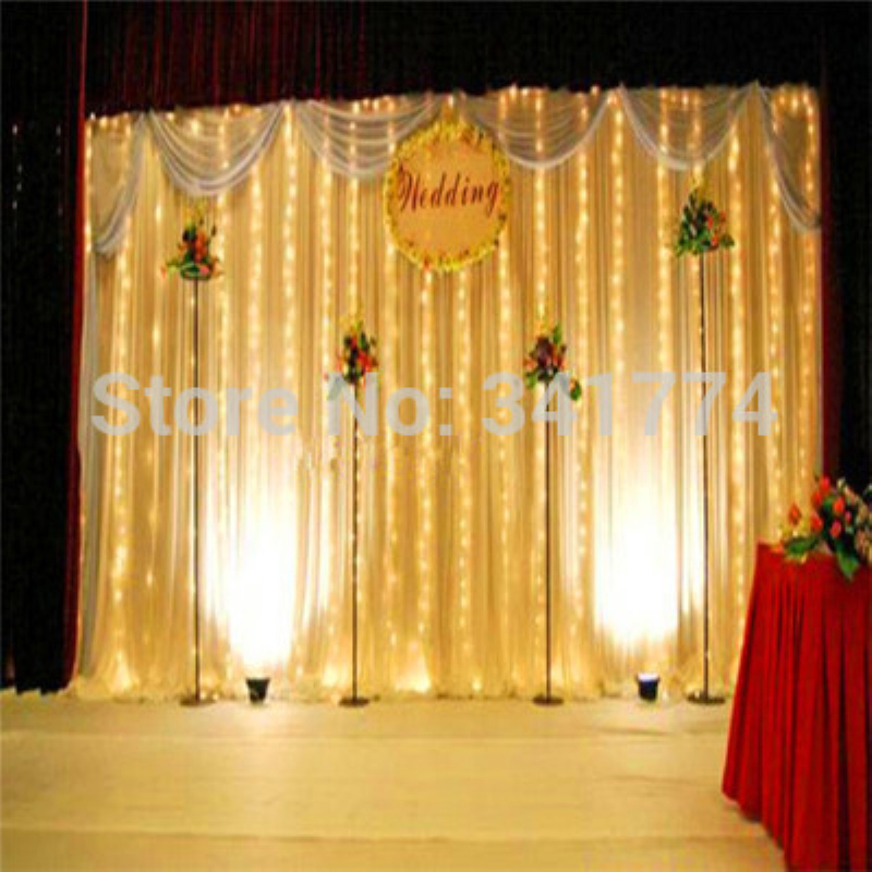 Waterproof 3*3 m LED curtain lights Christmas New Year lighting garland fairy wedding party garden outdoor luminaria decoration 5m 20 big balls led ball string lights curtain garland lamp for fairy wedding party new year outdoor christmas holiday lighting