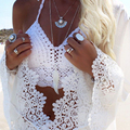 Sexy Vest Crochet Lace Crop Top Women Strap New 2016 Women Tube Tops Spring Summer Corset Backless