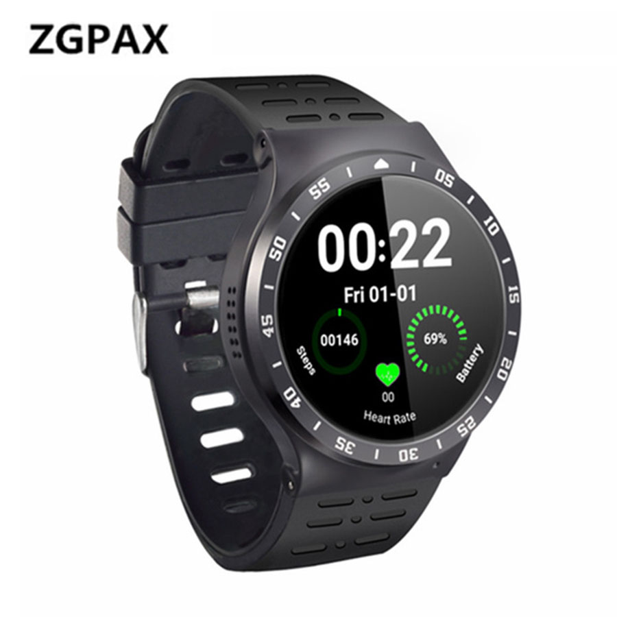 ZGPAX S99A 3G GPS WiFi Smartwatch Phone Pedometer Heart Rate Monitor Sport Watches 8GB ROM 5.0MP HD Camera Bluetooth Smart Watch