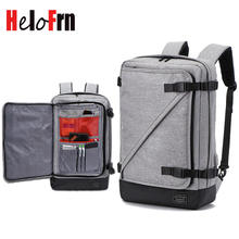 HeloFrn Fashion Backpack Men Waterproof Canvas Bag USB Laptop Business Male Teenager Travel Anti-theft Mochila