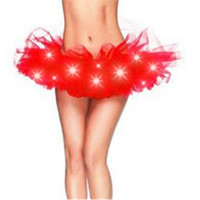 Abbille Heiße Led-Licht Up Sexy Frauen Tutu Chiffon Kurzen Rock Petticoat Dance Rave Neon Party Halloween Dekorationen Kostüme