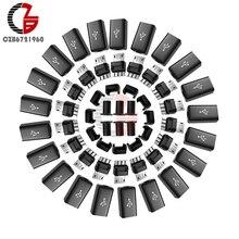 10 шт. Micro USB штекер разъем DIY комплект с чехлами черный