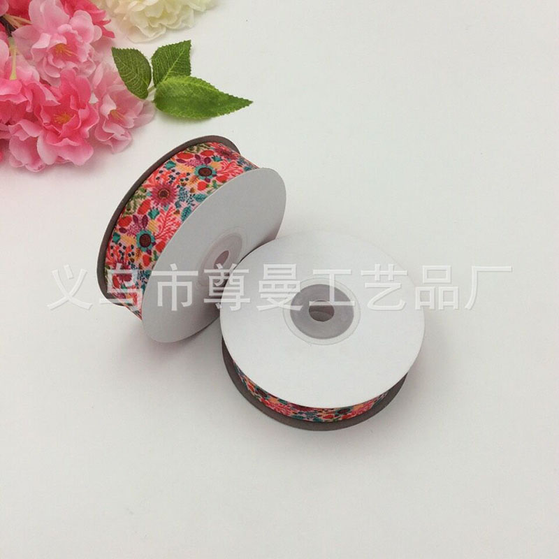 Ribbon DIY 2.5cm Wide Digital Printing Clothing Decoration Material Transfer Sublimation Sunflower Series Thread