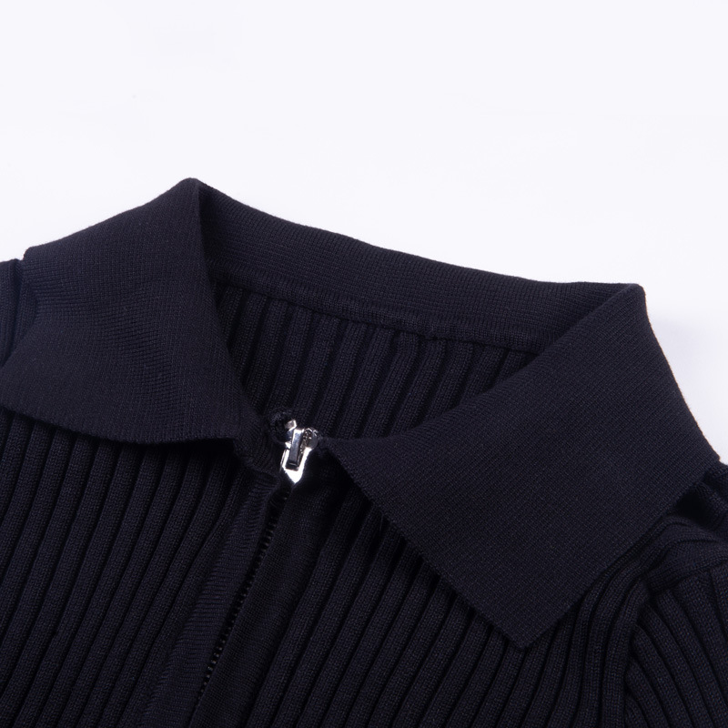 db902c213a Harajuku Unif Zipper Cardigans Women Chic Turn Down Collar Cropped Sweaters  Cardigan Coats Female Long Sleeve Fitness Tops Femme-in Cardigans from  Women's ...