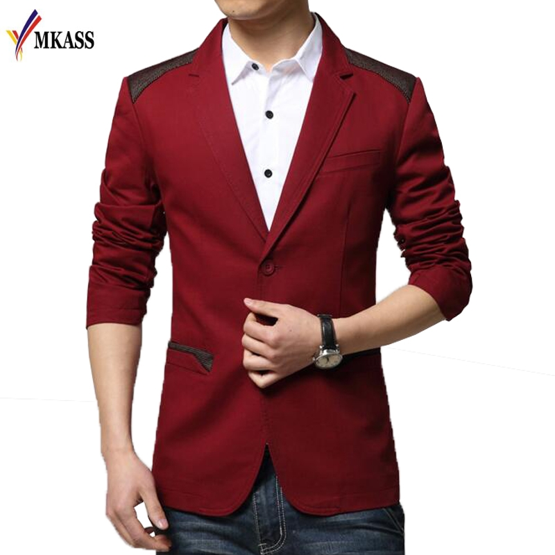 Novos Homens Marca de Moda Britânico Blazer Casual Slim Fit Blazers Homens Casaco Paletó Masculino Terno Masculino Plus Size 6XL