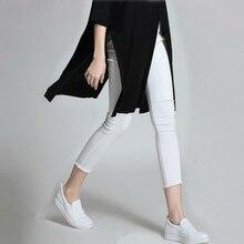 БЕЛЫЕ брюки женщин Высокого Качества для женщин новое отверстие осенью 2016 джинсы женские ноги Гольфы брюки ЧЕРНЫЙ 6031