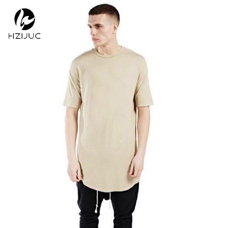 HZIJUE 남자 확장 저스틴 Bieber 티셔츠 코튼 스웨트 망 T 셔츠 스케이트 보드 tshirt 단색 힙합 T 셔츠 남성 티셔츠 탑스
