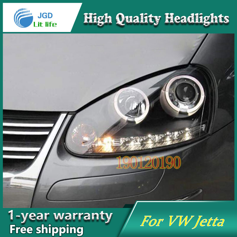 JGD Brand New Styling for VW Volkswagen Jetta LED Headlight 2007-2011 Headlight Bi-Xenon Head Lamp LED DRL Car Lights hot sale abs chromed front behind fog lamp cover 2pcs set car accessories for volkswagen vw tiguan 2010 2011 2012 2013