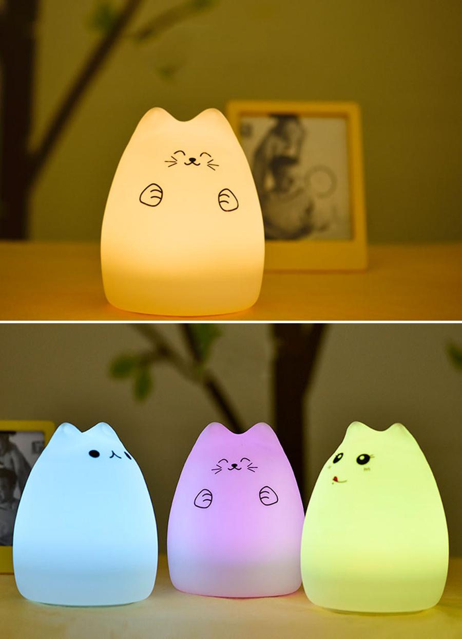 HTB1Va0VSpXXXXXAaFXXq6xXFXXXq - Lampka Silikonowa Kitty LED