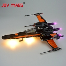 JOY MAGS Only Led Light Kit For Building BlocksStar Wars Poe's X-Wing Fighter Compatible With Lego 75102 05004 Excluding Model