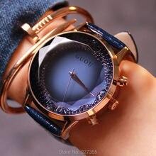 Женские наручные часы из натуральной кожи, с большим циферблатом, 9 цветов