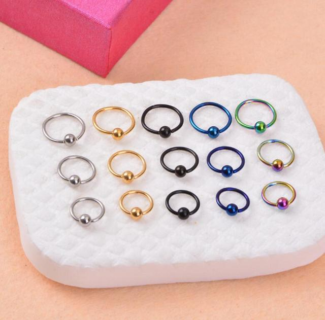 Us 1 29 10 Pcs Lot Stainless Steel Captive Bead Rings Bcr Lip Nose Eyebrow Nipple Penis Piercings Septum Ring Body Piercing Jewelry In Body Jewelry