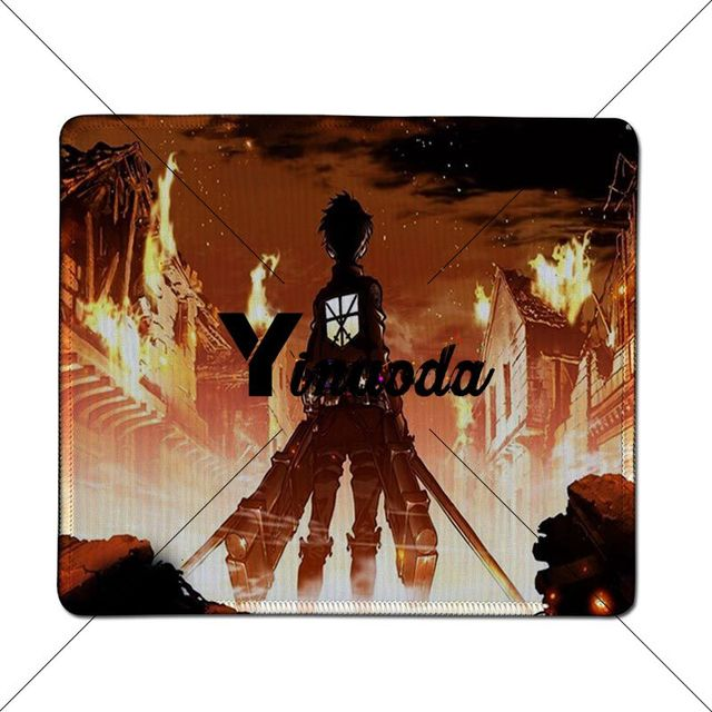 Yinuoda Favorit Saya Attack On Titan Wallpaper Keyboard Tikar Karet Meja Tikar Besar Gaming Mouse Pad Penguncian Tepi Mousepad Mouse Pads Aliexpress