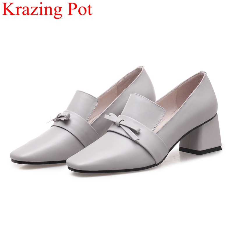 2018 new arrival slip on big size high heels cow leather women pumps elegant butterfly-knot office lady party runway shoes L90 new arrival spring autumn plus size 11 12 13 14 15 16 17 18 19 20 fashion elegant butterfly knot super high heels single shoes