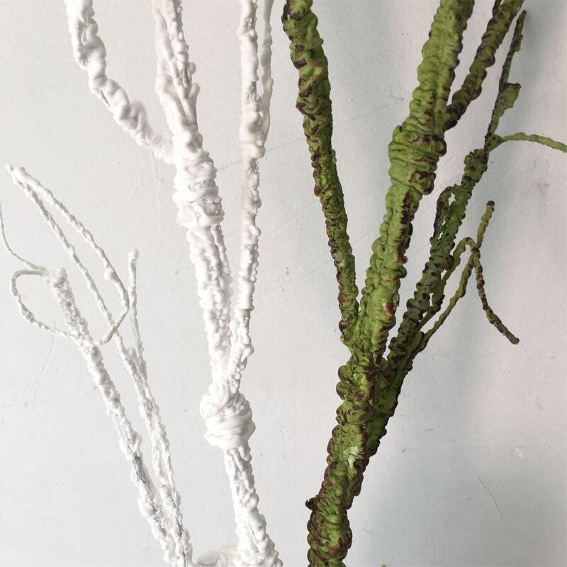 120 см большая белая высушенная ветка зеленая Рождественская декорация украшение Витрины Магазина изгиб легко произвольный изгиб