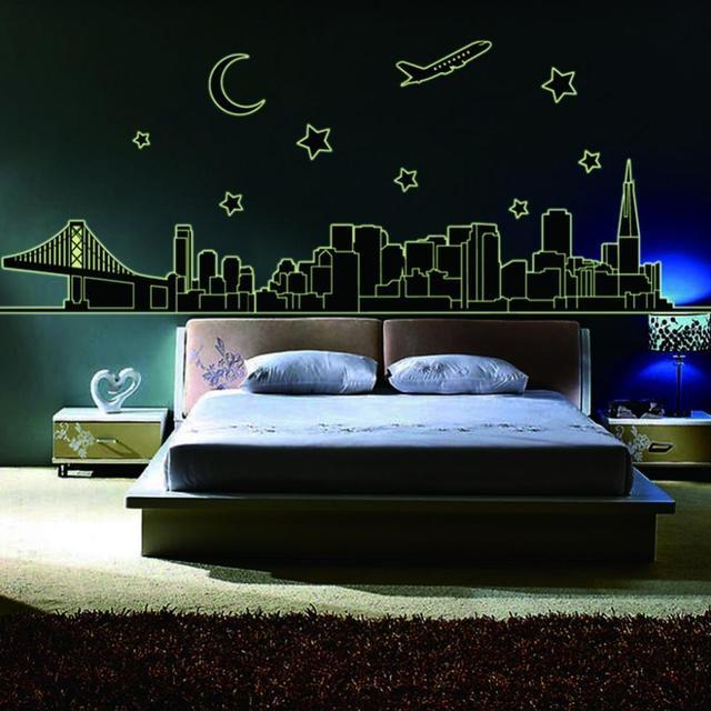 Décoration Angleterre Pour Chambre angleterre style mondren city night avion étoiles lune décoration