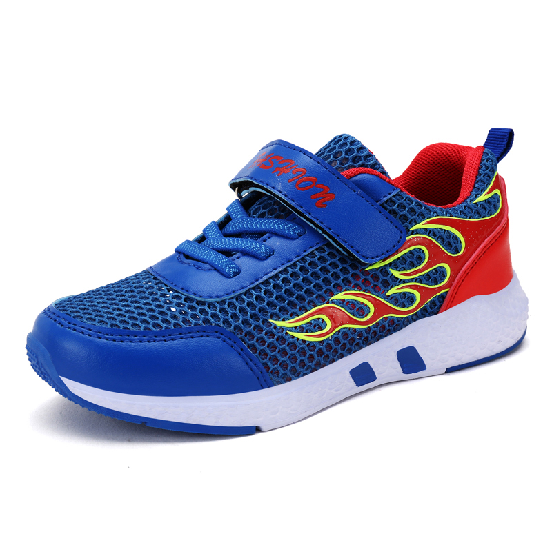 QIUTEXIONG Children Shoes For Boys Sneakers Kids Causal Shoes Running Sport Footwear Student Trainer Breathable Mesh Sneakers
