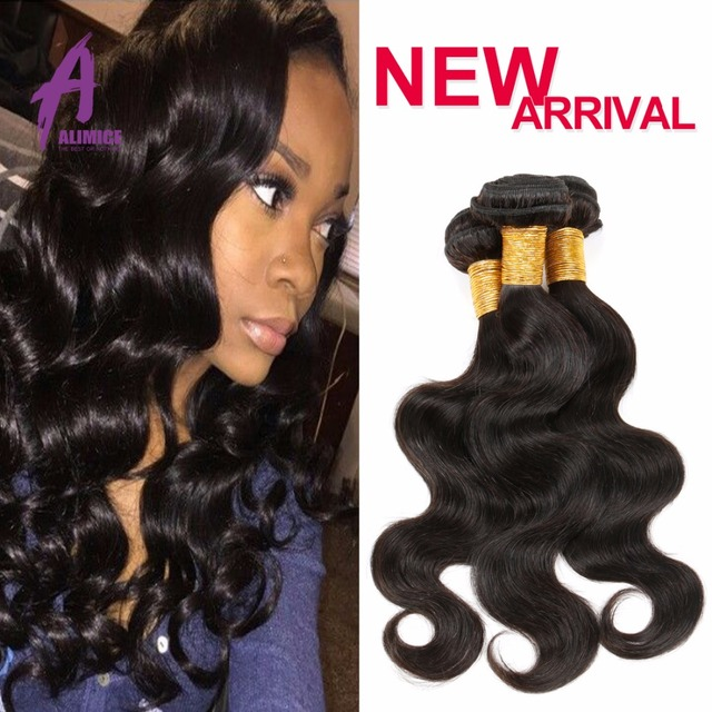 Indian Wet And Wavy Human Hair Weave Bundle Deals 3 Bundle Alimice Hair Products 2017 Style Raw Indian Virgin Hair BodyWave Remy