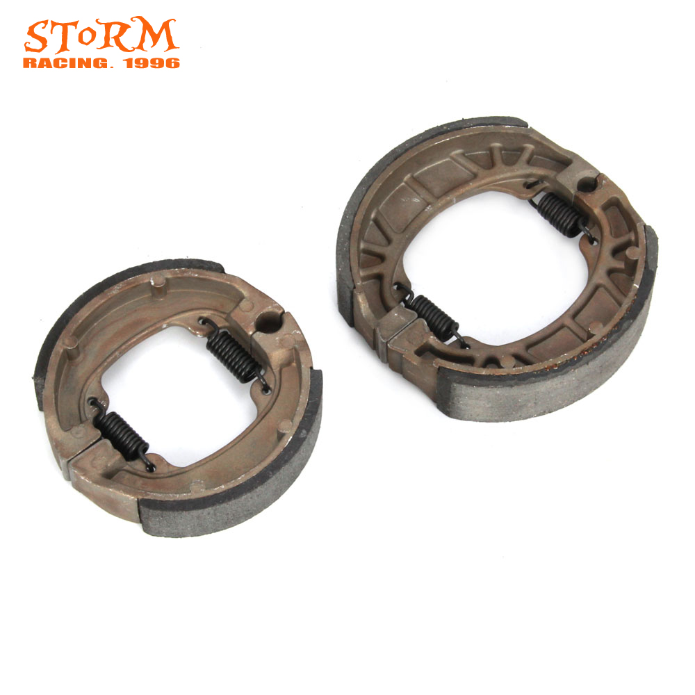 Motorcycle Front and Rear Brake Shoes & Springs For Yamaha PW TY 80 1983-2010 PW80 Y-Zinger 1977-1982 TY80 ATV Dirt Pit Bike mfs motor motorcycle part front rear brake discs rotor for yamaha yzf r6 2003 2004 2005 yzfr6 03 04 05 gold