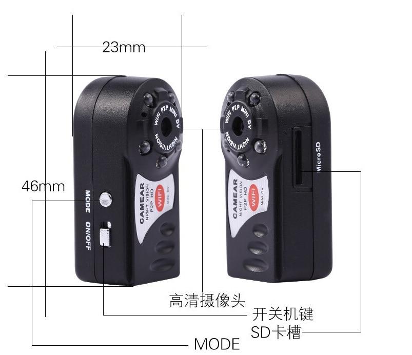 WiFi Camera Mini DV Q7 480P DVR font b Wireless b font IP Camera Brand New