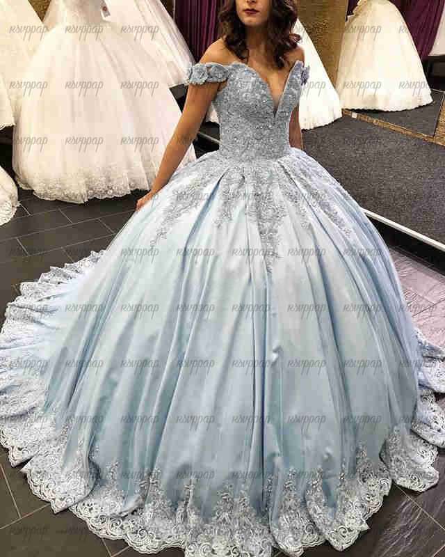 Luxury Long Quinceanera Dresses Puffy Ball Gown Party Prom Dress Sweet 16 15 New